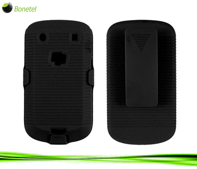 Armor Shell Case with Holster Combo for BlackBerry 9900 Black
