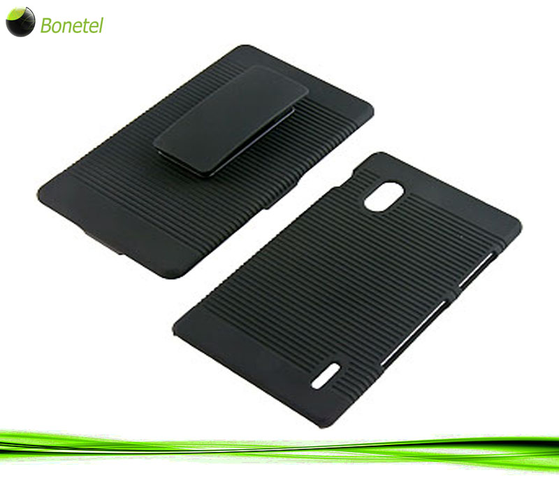 Rubberized Hard Shell Case  Holster for LG Optimus G (AT&T) E970