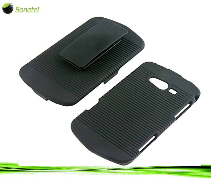 Rubberized Hard Shell Case Holster for Samsung Galaxy Reverb M950, Black