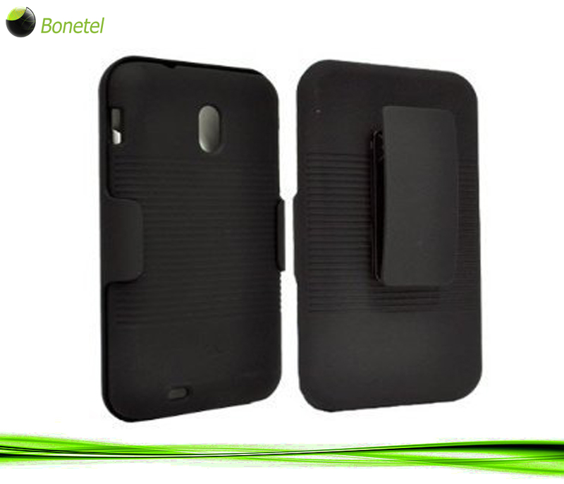 BLACK CASE + BELT CLIP HOLSTER FOR SPRINT SAMSUNG GALAXY-S II EPIC 4G TOUCH D710