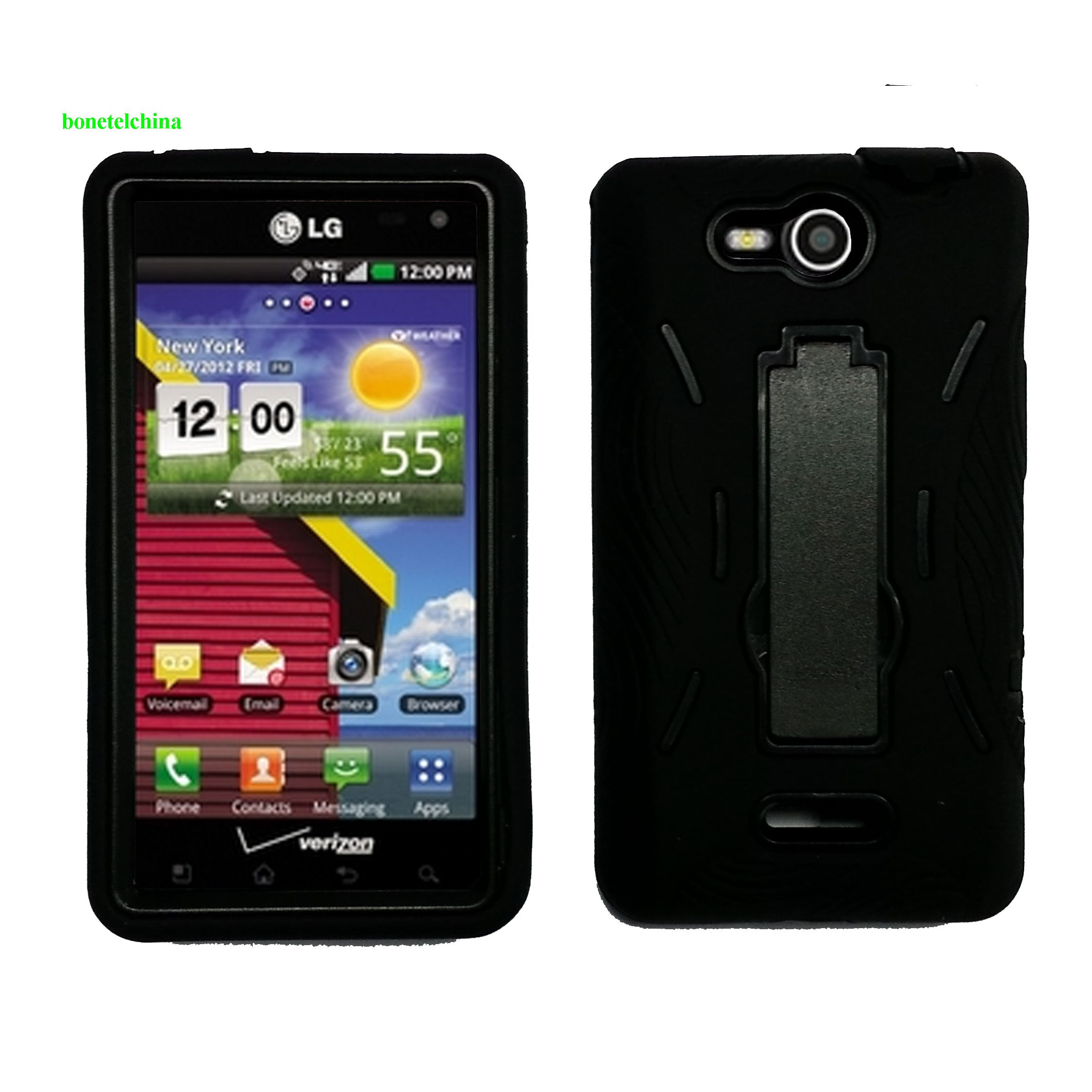 Rubberized Hard Case Holster with Stand for  LG VS840 Lucid 4G