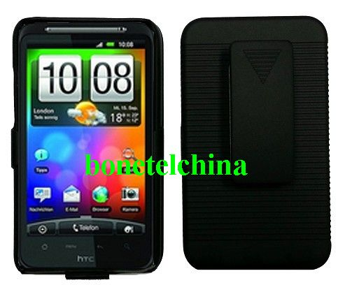 Rubberized Hard Case Holster with Stand for HTC Desire HD(G10)