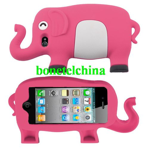 New Cute Elephant Soft Silicone Back Case Cover For Apple iPhone 4 4G 4S