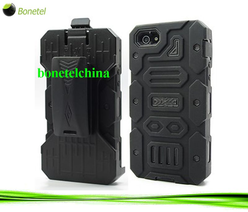Black Ballistic Style iPhone 5 Holster Cover Case