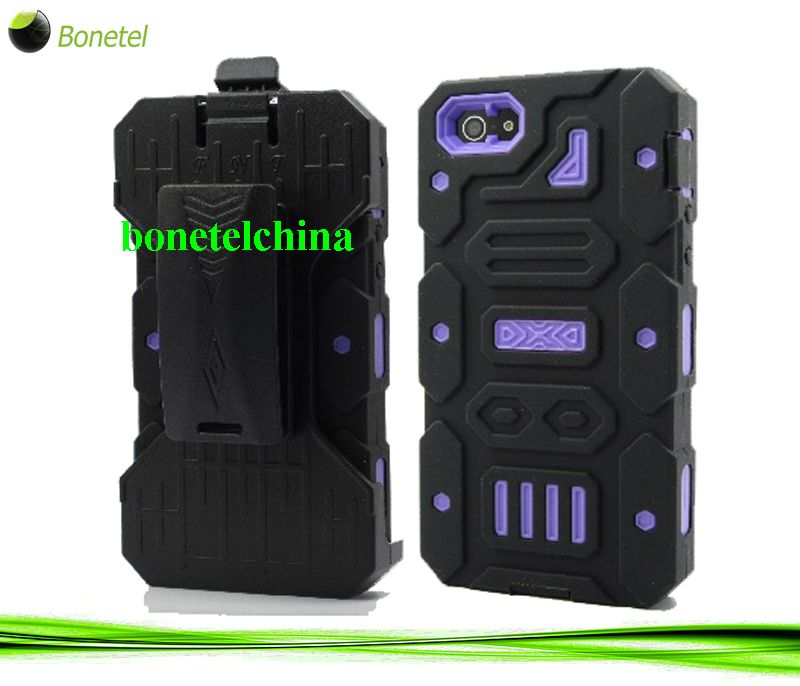 Black Ballistic Style iPhone 5 Holster Cover Case-Purple