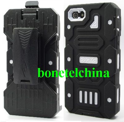 Black Ballistic Style iPhone 5 Holster Cover Case-white