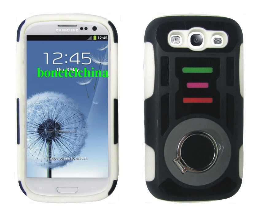 New Design Ring Kickstand Hybrid Combo Cases for Samsung Galaxy S3