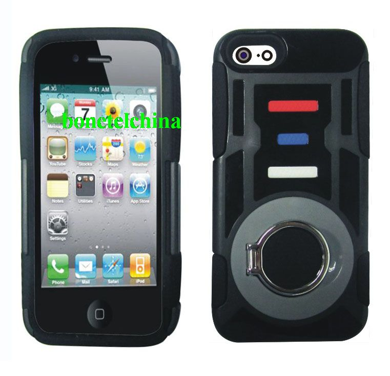 New Design Ring Kickstand Hybrid Combo Cases for iPhone 5
