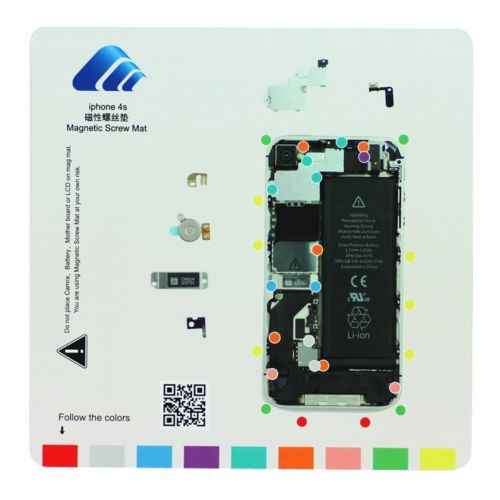 New Professional Magnetic Pad Guide Mag Screw Keeper Mat For IPhone 4 4S 5 5S