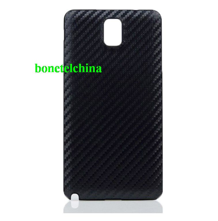 Black carbon fiber texture battery case for Samsung Galaxy Note 3 N9000