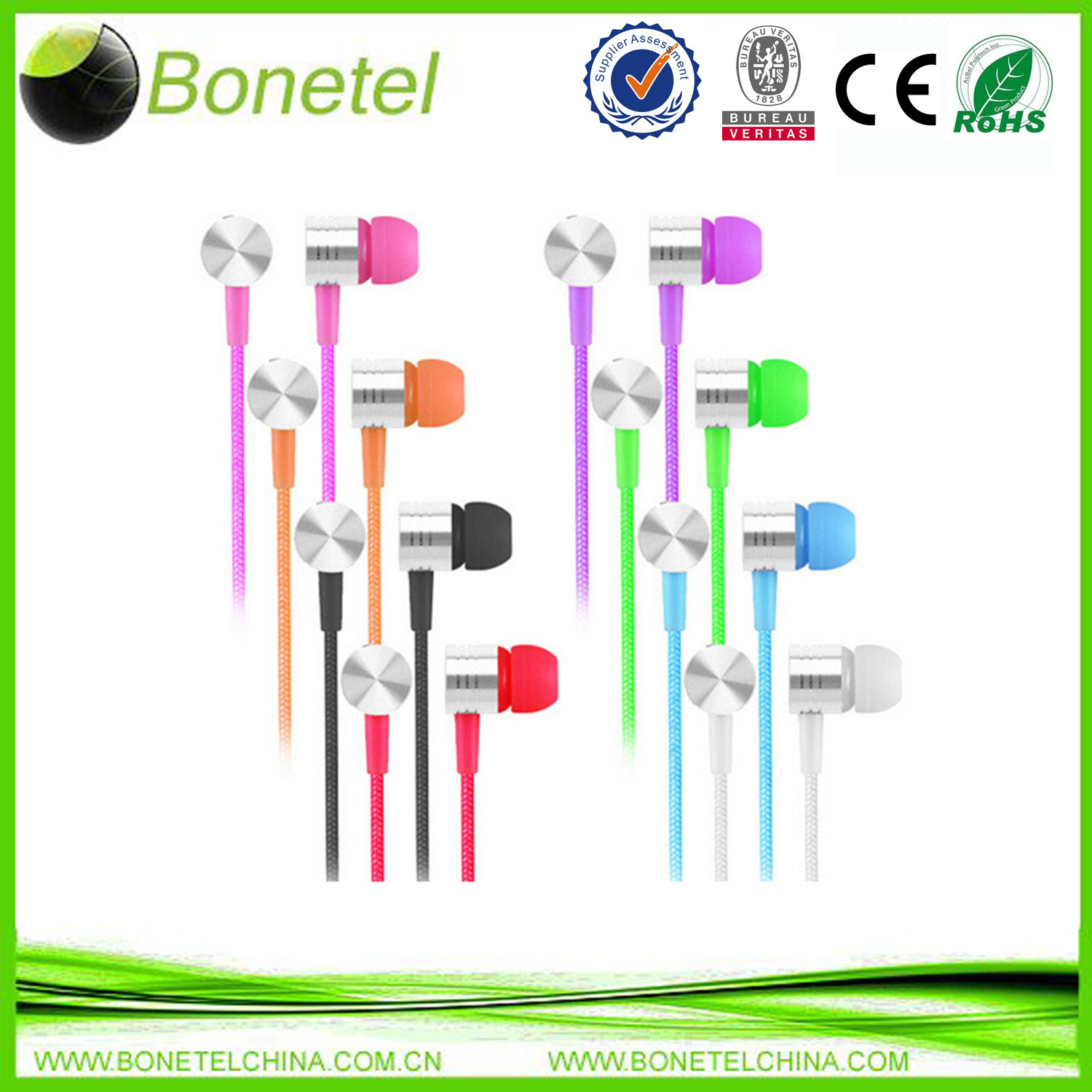 Stereo Headset Headphone Earphone for Android Mobile Samsung S4 iPhone 4 5 iPod