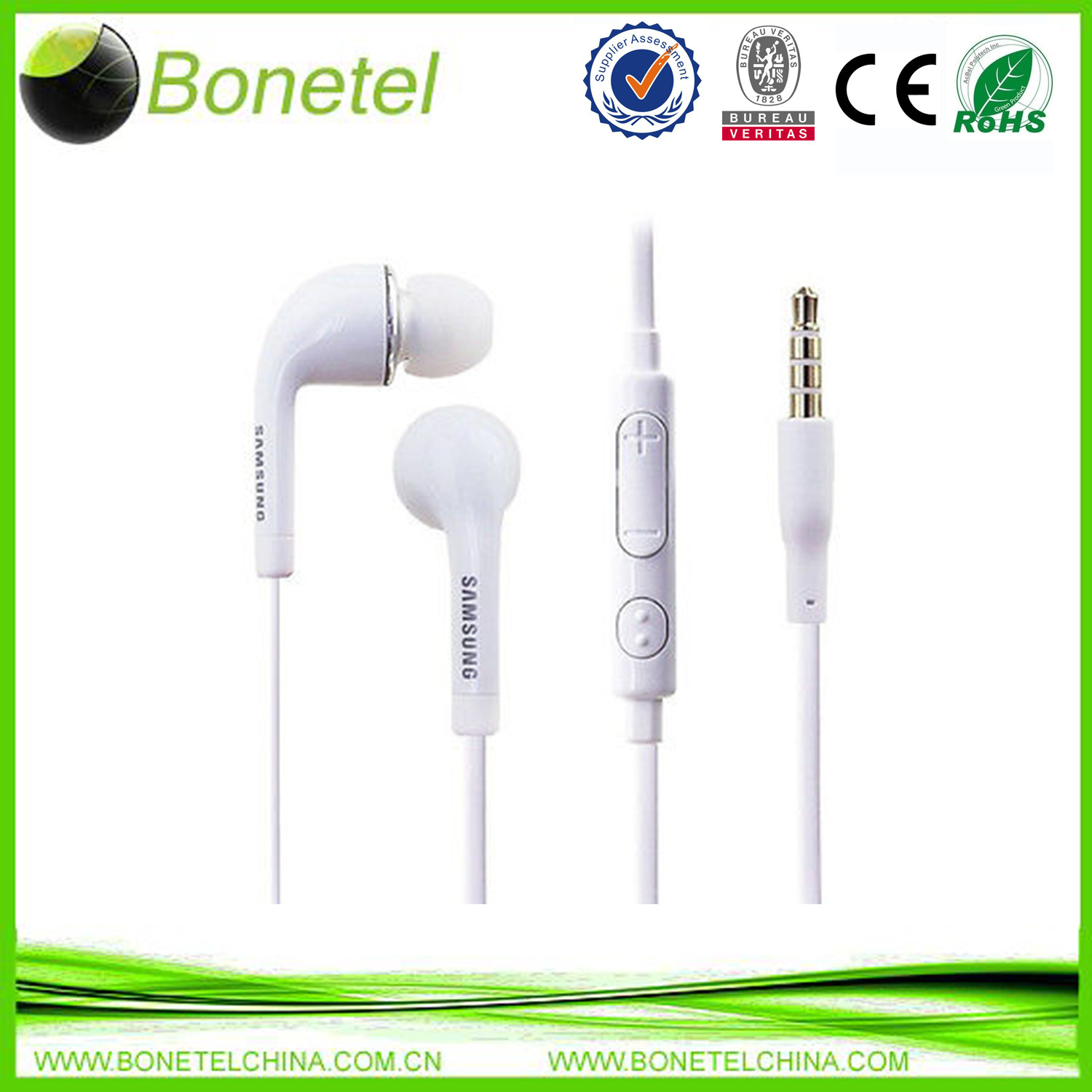 New Stereo Headset Headphones Earphones Mic for SAMSUNG Galaxy S3 S4 White Black