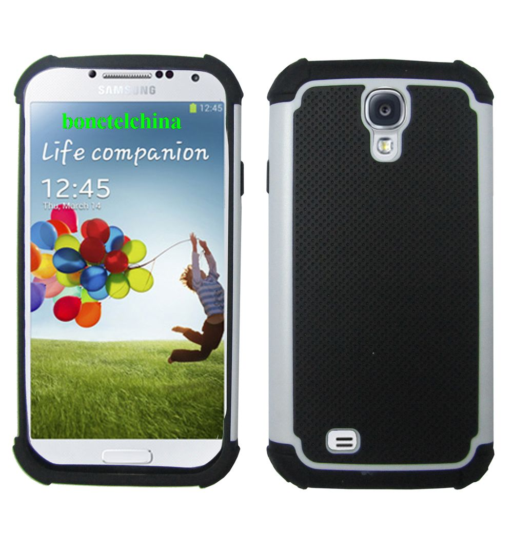 3 in 1 Silicone+PC+TPU football Patterm Combo case for Samsung S4 IV I9500 I9505