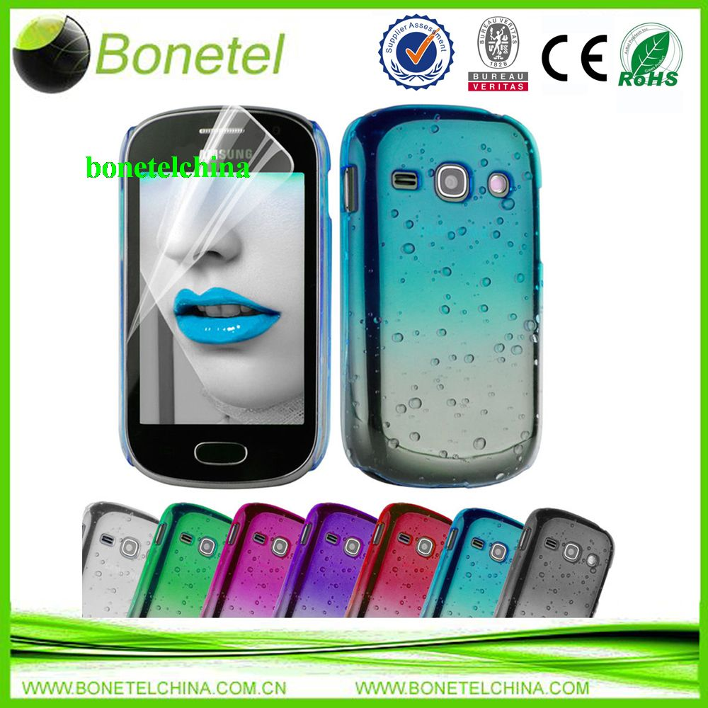3D RAIN DROP DESIGN HARD CASE COVER For Samsung Galaxy Fame S6810