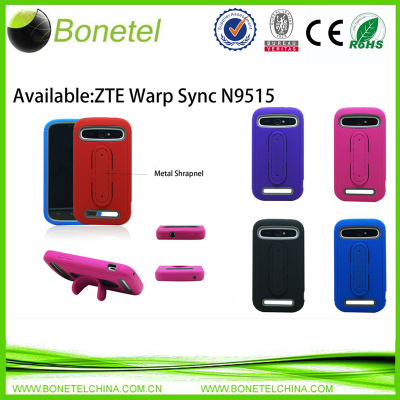 Stylish shrapnel protector case for ZTE N9519 with rugged stand
