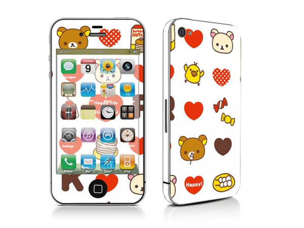 Colourful Skin/Colorful Sticker for iPhone 4S-796