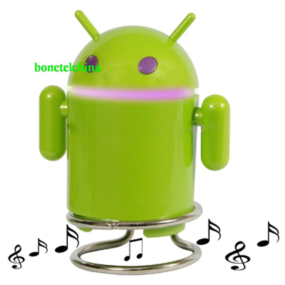 Android Robot Mini Speaker With Card Reader