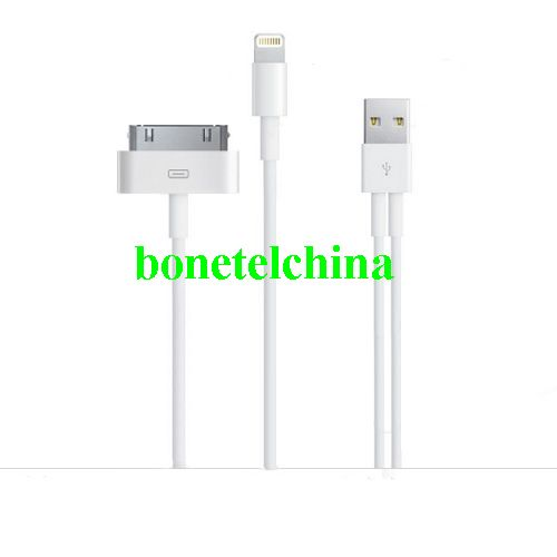 2 in 1 Dual USB Charging USB Sync Cable for all the iPhone, iPad & iPod