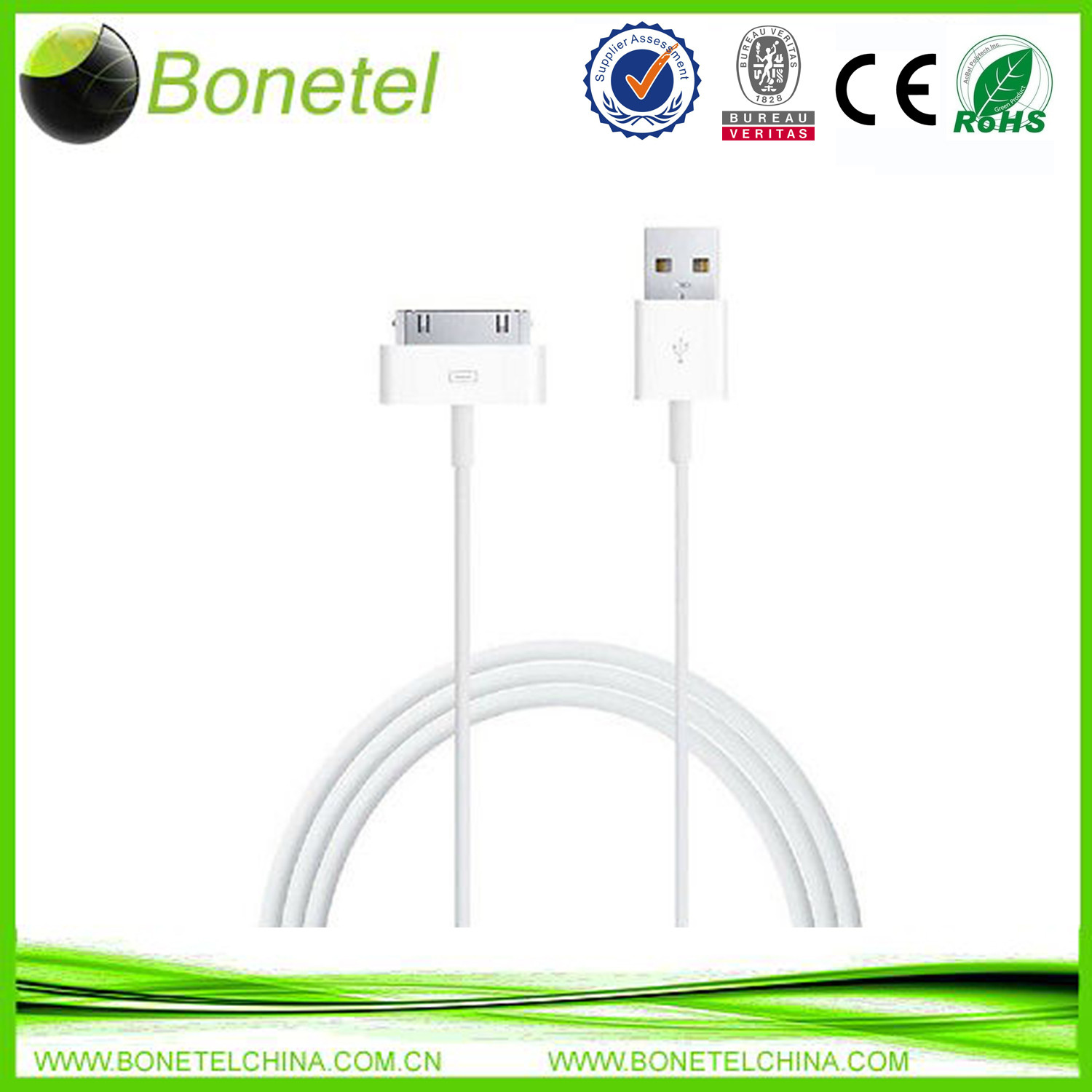 USB Data Cable Sync Charge for iPhone 4S 4 3GS ipad 2 ipa 3 iTouch