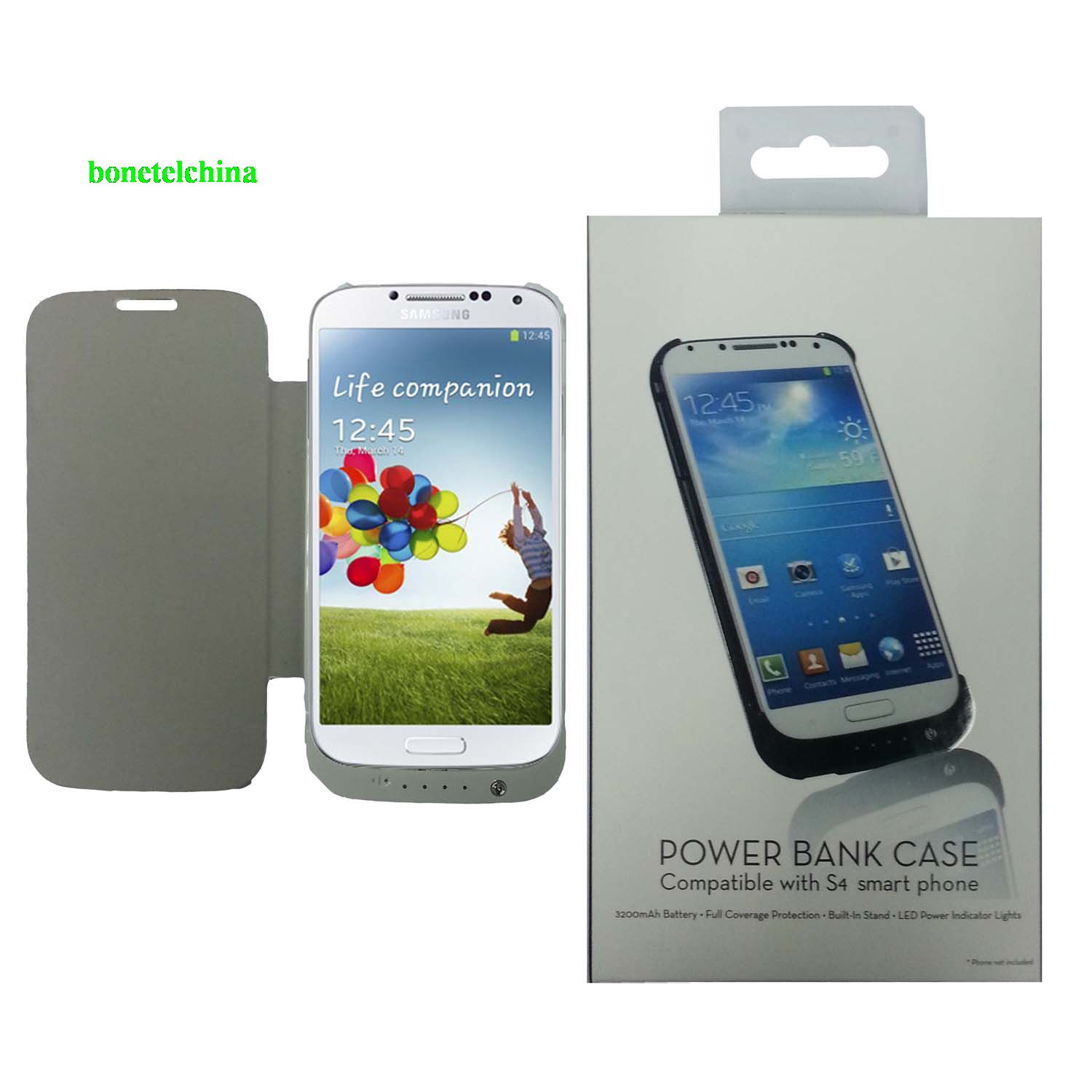 3200mAh External Backup battery case Power Bank for samsung galaxy s4