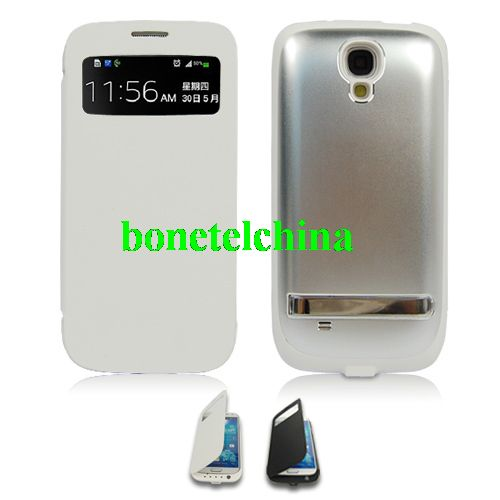 External Backup battery case Power Bank for samsung galaxy s4-White