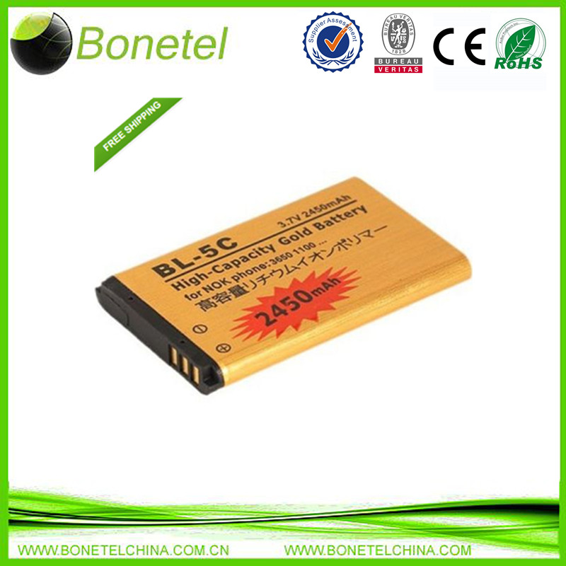 The battery of BL- 5C high capacity replacement  2450mah for mobile phone Nokia